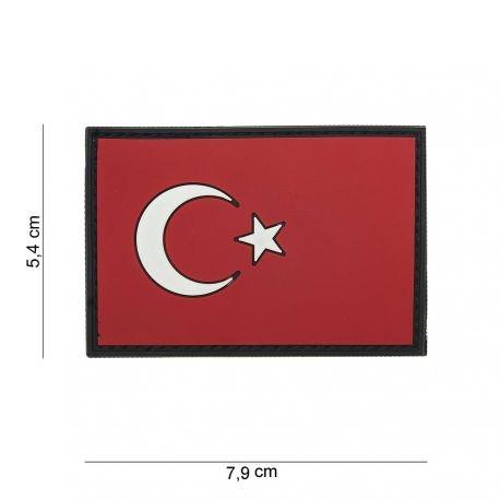 101 INC Patch 3D PVC Drapeau Turquie (101 Inc) AC-WP4441104016 Patch en PVC
