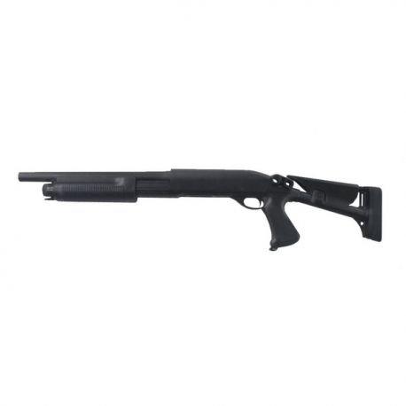 replique-Fusil Pompe M870 Crosse Reglable Metal Burst-3 Billes (Cyma CM353M) -airsoft-RE-CMCM353M