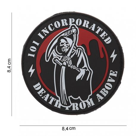 101 INC Patch 3D PVC Death From Above (101 Inc) AC-WP4441403557 Patch en PVC