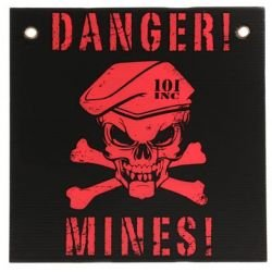 Danger Sign Mines Black / Red (101 Inc)