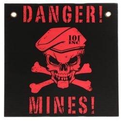101 INC Panneau Danger Mines Noir / Rouge (101 Inc) AC-WP415142BKR Accessoires