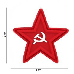 3D Star Red PVC Patch / Hammer and Sickle (101 Inc)