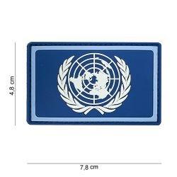 Parche 3D de PVC azul de la ONU (101 inc.)