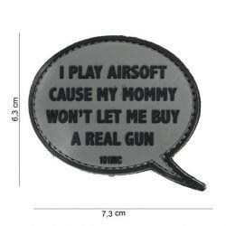 Patch 3D PVC I play Airsoft Gris (101 Inc)