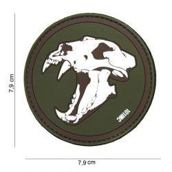 Patch 3D PVC Skull Tigre Blanc & OD (101 Inc)