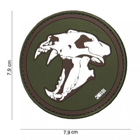 101 INC Patch 3D PVC Skull Tigre Blanc & OD (101 Inc) AC-WP4441303896 Patch en PVC