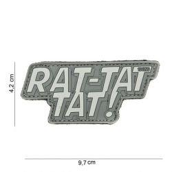 Patch 3D PVC Rat-tat tat Gris (101 Inc)