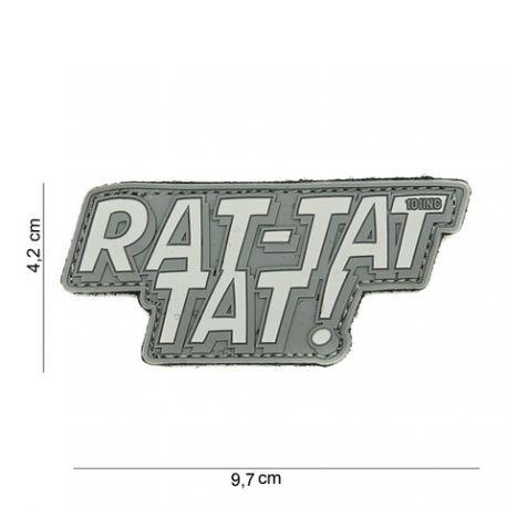 101 INC Patch 3D PVC Rat-tat tat Gris (101 Inc) AC-WP4441303948 Patch en PVC