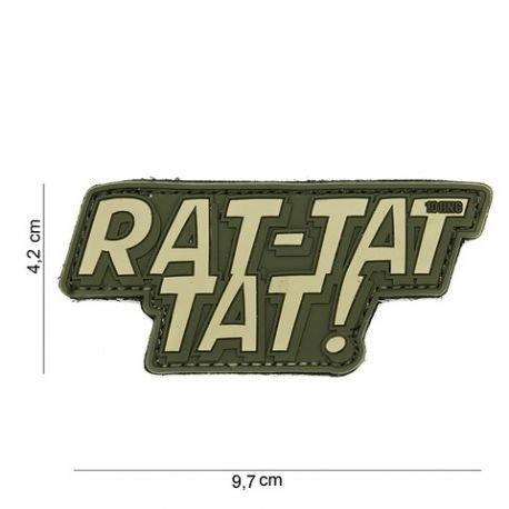 101 INC Patch 3D PVC Rat-tat tat OD (101 Inc) AC-WP4441303946 Patch en PVC