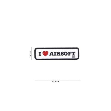 101 INC Patch 3D PVC I love Airsoft Noir & Blanc (101 Inc) AC-WP4441304080 Patch en PVC