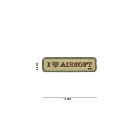 101 INC Patch 3D PVC I love Airsoft Desert (101 Inc) AC-WP4441304081 Patch en PVC