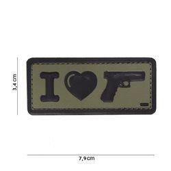 Patch 3D PVC I love my Glock OD (101 Inc)