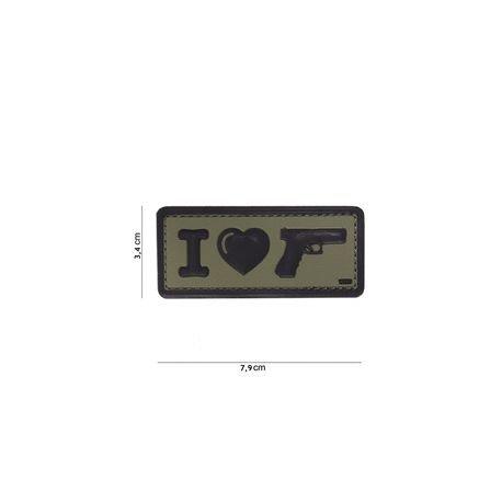 101 INC Patch 3D PVC I love my Sidearm OD (101 Inc) AC-WP4441304087 Patch en PVC