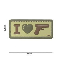 Patch 3D PVC I love my Glock Coyote (101 Inc)