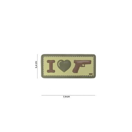 101 INC Patch 3D PVC I love my Sidearm Coyote (101 Inc) AC-WP4441304090 Patch en PVC