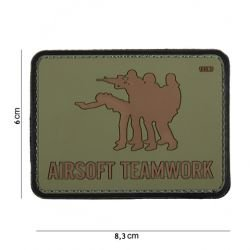 PVC Patch Airsoft Teamwork OD (101 Inc.)