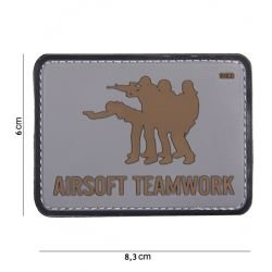 Patch PVC Airsoft Teamwork OD
