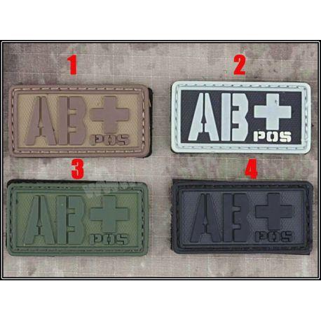 Emerson Patch 3D PVC Sanguin AB+ OD (Emerson) AC-EMBD5516B Patch en PVC