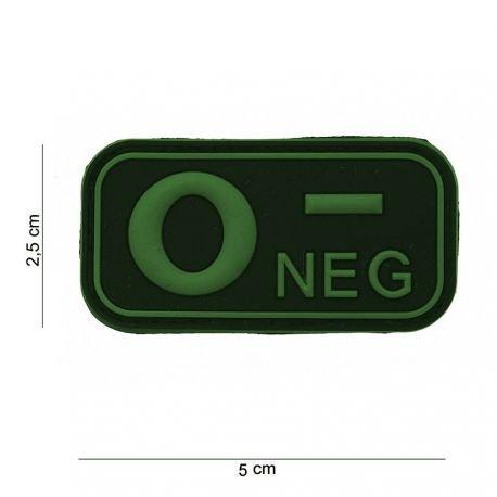 101 INC Patch 3D PVC Sanguin O- OD (101 Inc) AC-WP4441003509 Patch en PVC