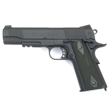 replique-KWC Colt 1911 Rail Gun Noir Co2 (Swiss Arms 180524) -airsoft-RE-CB180524