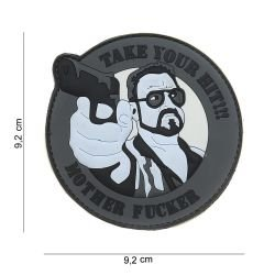 Patch 3D PVC Take Your Hit Gris (101 Inc)