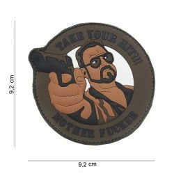 Patch 3D PVC Take Your Hit Brown (101 Inc)