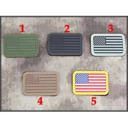 Patch 3D PVC Drapeau USA Gris (Emerson)