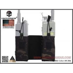 Emerson poches MBITR pour gilet JPC Multicam Black