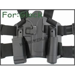 Emerson Holster Cuisse CQC Noir G17/G18 (Emerson) AC-EMBD6090 Holster