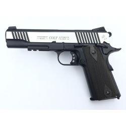 KWC Colt 1911 Rail Bi-Ton Gun con Streaks Co2 (Swiss Arms 180525)