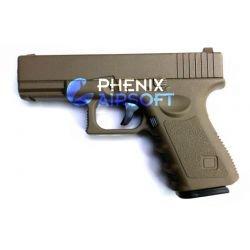 replique-Pistolet Ressort G17 Desert Metal (Galaxy G15D) -airsoft-RE-GAG15D