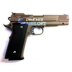 Pistolet Ressort Browning M945 Desert Metal (Galaxy G20D) RE-GAG20D Répliques à Ressort