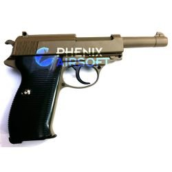 Pistola Walther P38 Spring Desert Metal (Galaxy G21D)