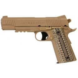 CYBERGUN Colt 1911 M45A1 Wüstenmetall Co2 (Swiss Arms 180313) RE-CB180313 Replik NBB-Faust