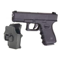 Pistola a molla G17 con fondina in metallo (Galaxy G15 +)