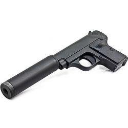 Colt 25 Spring Gun (Mini) mit Schalldämpfer Metall (Galaxy G1A)