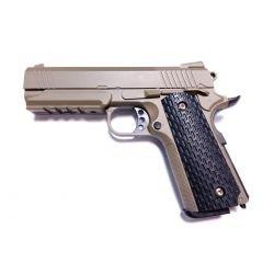 Pistolet Ressort Hi-Capa Strike Warrior Desert Metal (Galaxy G25D)