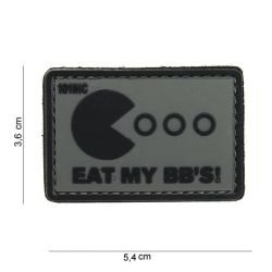 Patch in PVC Eat My BB's Grey (101 Inc)