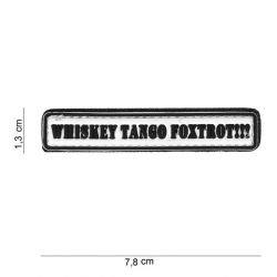 3D PVC Whisky Tango Foxtrot Patch (101 Inc)