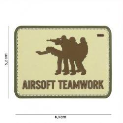 PVC-Patch Airsoft Teamwork Desert (101 Inc)
