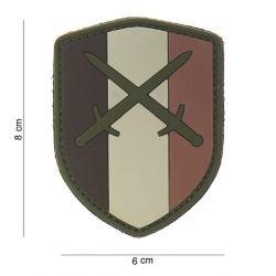 Espada 3D del desierto de Ecusson Bélgica del remiendo del PVC (101 inc.)