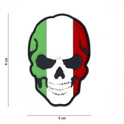 101 INC Patch 3D PVC Skull Drapeau Italie (101 Inc) AC-WP4441305006 Patch en PVC