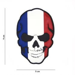 Patch 3D PVC Skull Flag Francia (101 Inc)