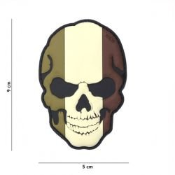 Patch 3D PVC Skull Drapeau France basse visibilité (101 Inc)
