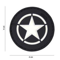 Patch 3D PVC Allied Star Noir (101 Inc)
