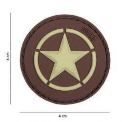 Patch 3D PVC Allied Star Marron (101 Inc)