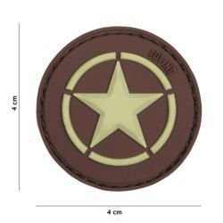 PVC 3D-Patch Allied Star Brown (101 Inc)