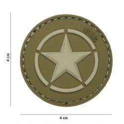 "Patch 3D PVC ""Star"" OD & Desert (101 Inc)"
