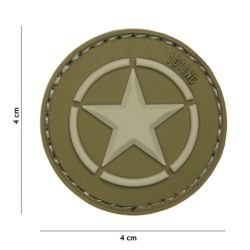 Patch in PVC 3D Allied Star OD (101 Inc)