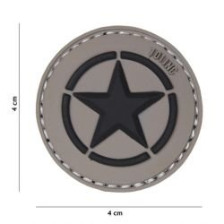 Patch in PVC 3D Allied Star Grey (101 Inc)